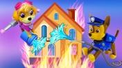 Щенячий патруль и ПОЖАР - Мультик из игрушек - Машины сказки для детей