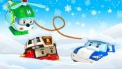 Робокара Поли завалило снегом - Машины сказки для детей - Видео с игрушками