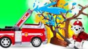 Щенячий патруль тушит пожар - Видео для детей - Машины сказки на ночь