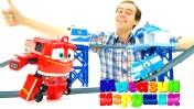 Мультфильм для детей про паровозики - Роботы-поезда - Магазин игрушек