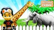 Игрушки из мультиков в Детском садике - Расти механик, Кэтбой и София в зоопарке. Видео для детей