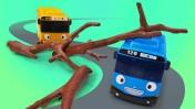Сказка про машинки. Тайо и дерево на дороге. Машины сказки на ночь