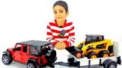 Обзор игрушек для мальчиков. Джип и бульдозер.