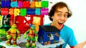 Черепашки Ниндзя в Магазине игрушек. Видео для детей