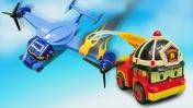 Робокар Рой спасает самолет -  Машины сказки - Видео для детей с игрушками