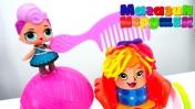 Куклы Лол играют с Плей До. Видео для детей.