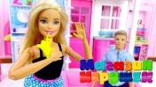 Видео для девочек: новый дом Барби. Магазин игрушек.