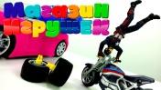 Магазин игрушек -  Капитан Америка покупает мотоцикл