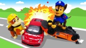 Видео для детей - Щенячий патруль игрушки и авария машинок