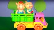 Мультик для малышей про животных. Поросята едут на ферму.