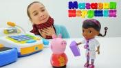 Свинка Пеппа работает продавцом. Магазин игрушек. Видео для детей.
