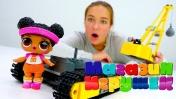 Кукла ЛОЛ и тренажер. Игры для детей.