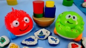 Изучаем цвета с игрушками. Мультик для самых маленьких.