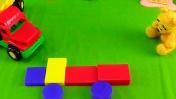 Грузовик и Медвежонок. Собираем машинку из кубиков.