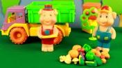 Видео для детей: Учим овощи с игрушками