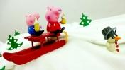Видео для детей. Свинка Пеппа, Джордж и снеговик.