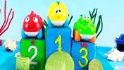 Видео для детей. Подводные гонки. Китенок - победитель