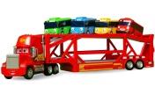 Машинки для малышей, РАСПАКОВКА— Машинки наавтовозе едут вбассейн сшариками— Машины-помощники