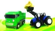 Машины -Помощники - Самосвал, трактор, уборочная машинка