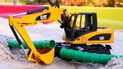 Машинки для детей— Грузовик, Экскаватор ибольшие машины— Машины-помощники