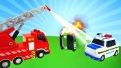 Машины -Помощники - Пожарная машина, полицейский автомобиль