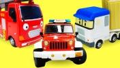 Видео про машинки помощники для детей. Приключения на стройке, Автобус Тайо и рабочие машины