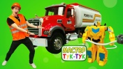 ТукТук Шоу - Бамблби и Оптимус Прайм - Помощь мастера ТукТук на базе