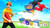 Супер крылья: Джетт иего друзья— Тушим пожар ваэропорту— Видео для детей Тук-Тук Шоу