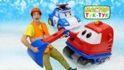 Видео для детей— Машинка Робокар Поли помогает Капу выбраться изснега— Тук-Тук Шоу