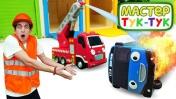 Видео для детей про игрушки. Автобус Тайо попал в аварию! Поможет ли ему Мастер Тук Тук?