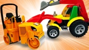 Игрушечные машины помощники. Видео для детей про рабочие машинки