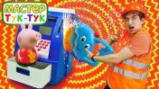 Видео про игрушки. Свинка Пеппа доигралась! Тук тук Шоу
