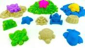 Лепим из песка и учим цвета - Игры с песком - Видео для детей