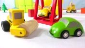 Машинки для детей: рабочие машины - каток