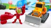 Видео для детей про машинки - Машины помощники игрушки развивающие