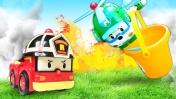 Детское видео про Машины помощники. Пожар в домике овощей!