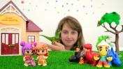 Куклы и динозавры — Игрушки для детей - Апельсинка и Конфетка