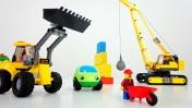 Мультики про машинки и  Лего - Машинки сносят старый дом