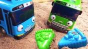Игрушки из мультфильма Тайо маленький автобус. Видео для детей.