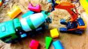 Мультики про строительные машинки для мальчиков. Игры в песке.