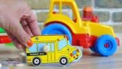 Видео для детей: Собираем пазлы - транспорт