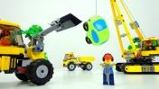 Машинки для детей - Игрушки Лего и машинки - Случай на стройке