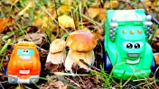Мультики про машинки - Чак и Рауди собирают грибы