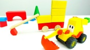 Игры для детей - Машинки, Кубики и Экскаватор Мася