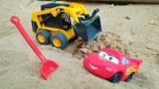 Мультики про машинки. Маквин строит дорогу. Игры в песочнице.