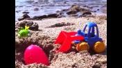 Машинки на пляже. Игра для детей: Горячо-холодно!