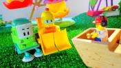 Робокар Поли - Машинки для детей - Катаемся на аттракционах