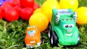Мультики про машинки - Игры на улице - Шарики