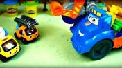 Игры с машинками для детей - Лепка из пластилина