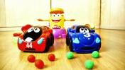 Мультики про машинки - Игрушки и катапульта Play-Doh
